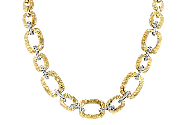 F061-36626: NECKLACE .48 TW