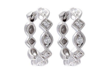 C055-91099: EARRINGS .22 TW