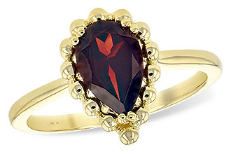 F244-12990: LDS GARNET RING 1.38 CT